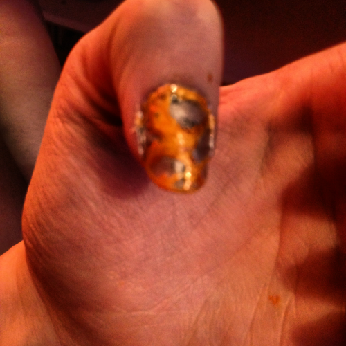 Mocking jay nail art!!!!