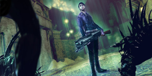 "Shadows of the Damned Gettin' Sequelized? ""I'm thinking of a sequel, actually,"" says famed composer and collaborator, Akira Yamaoka, his interest giving a Shadows successor the only shred of traction it has. Suda51 and Grasshopper Manufacture's grindhouse-y homage to horror and action flicks that populated the '80's with awesome may have been received well by all that played it, but suffered from the fact that ""all"" in sales speak actually encompassed a group of people that could barely fill a high school gymnasium. Even so, when Eurogamer inquired if publisher EA would back a sequel, the Silent Hill composer replied with a firm ""Probably.""  I'm confident if the developer's next project, the high school horror movie inspired Lollipop Chainsaw, leaves a bigger mark, Grasshopper Manufacture will be allowed free reign on anything they'd like.  Mr. Yamaoka and the twenty-four fans that bought Shadows sure hope that means more B-flick adventures with Garcia Hotspur and his incorrigible Johnson."