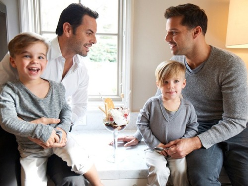 broadwaycom:  EVITA star Ricky Martin shows off his beautiful family in Spanish VANITY FAIR