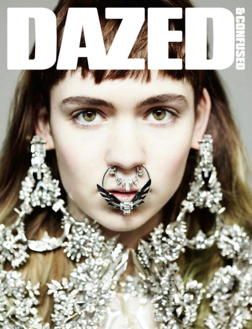 Dazed and Confused April 2012 Cover. Grimes wearing Givenchy Haute Couture Spring Summer 2012.  Photography by Hedi Slimane.Styling by Robbie Spencer.