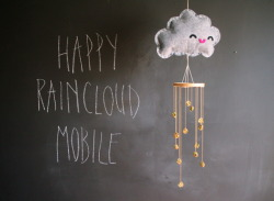craftjunkie:  Happy Raincloud Mobile {How to} Found at: missmake