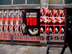 thedailywhat:  Film Adaptation of the Day: Street artist Shepard Fairey is reportedly teaming up with Brian Grazer and Ron Howard's Imagine Entertainment to bring a new film adaptation of George Orwell's Nineteen Eighty-Four to the big screen. Julie Yorn's LBI Entertainment, which has been spearheading its own attempt to make a 1984 movie, will be joining them. The best known cinematic adaption of the iconic novel to date was Michael Radford's 1984 film starring John Hurt as Winston Smith and Richard Burton as O'Brien. Little is known at this point about the Fairey/Imagine/LBI effort, but potential writers are being contacted and Fairey himself is expected to take on a production role. [thr / photo: flickr.]