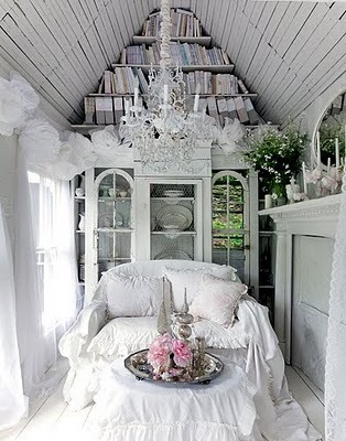 examinercom:   Shabby chic decor, love the chandelier!  (Photo: Trevor Tondro)