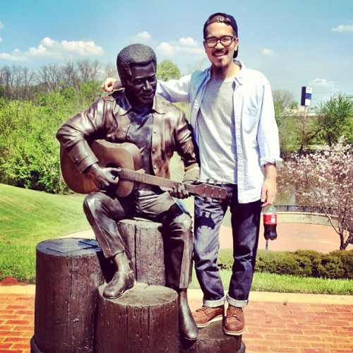 Last week, I got to visit the hometown of one my biggest influences, Otis Redding. This flick was taken by the Ocmulgee River in Macon, GA where they erected this statue to honor their hometown hero. It's crazy to think that years ago, a little town called Macon was a hot bed for soul music. It's a lot like how there are small towns that are mini-meccas for the punk/hardcore/diy scene I'm a part of—cultural outposts, if you will. Anyway, rep your heroes and your home hard. They make us who we are. -K ps. Follow along on Instagram & go Phillies!
