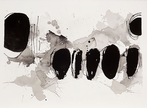 dailyartjournal:  Thérèse Murdza, Untitled, sumi ink on paper