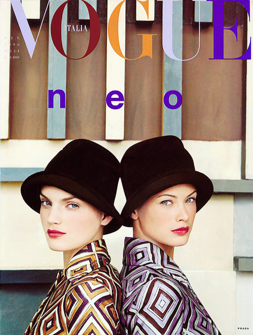 Guinevere Van Seenus  & Carolyn Murphy /Vogue Italia October 1998 by Steven Meisel