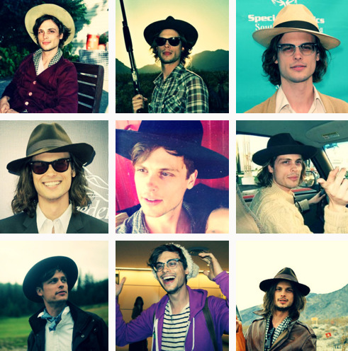 believewhenothersmightnot:  reblog if you APPRECIATE his hats :'3 ♥