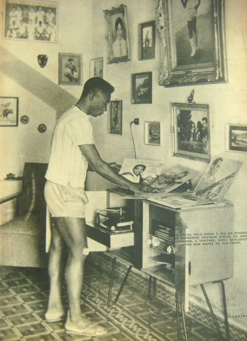 analog-blog:  buttondownmoda:  Pele's record collection.  Fresh.  Indeed.