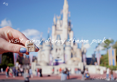 bucket list: #18↳visit every disney theme park