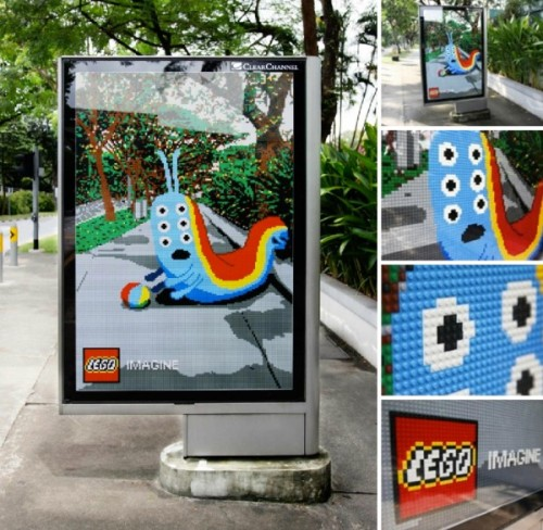 Ambient advertising by Lego via danielevin