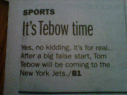 Tom even made the newspaper!
