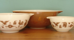 "Vintage ""Early American"" Pyrex Bowls (set of four) - $50.00"