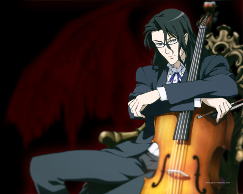 Truly, Haji is the best part of Blood+. He kills people with his cello case.