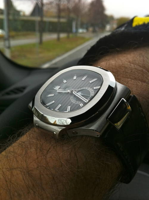 I love this Patek - it's the only Nautilus with leather strap that isn't a precious metal.