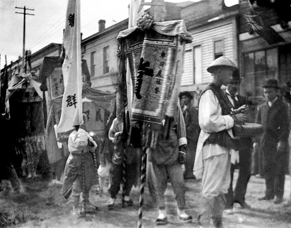 Chinatown festival scene, 190-? Source: The Chung Collection, UBC Library Digital Collections