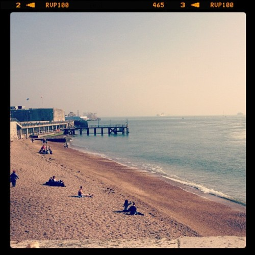 Wooo, the sea! #sea #beach #sun #england (Taken with instagram)