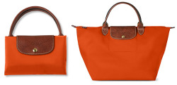 lusting over this short handled Longchamp Le Pliage in bright orange, I have about 5 Longchamp bags (I was an excessive student) so I may sell the ones I wear least so I can purchase this colour…