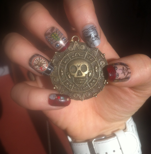 ninails:  Captain Jack Sparrow nails