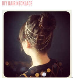 feedyourwonderland:  How to; Hair Necklace