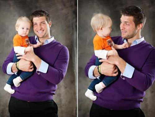 phil-f0urthirteen:  oh. my. gosh.  i'm  dying i love you tim TEBOW! & purple is your color