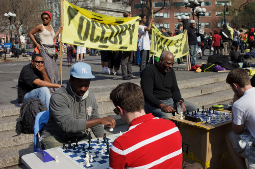 Great Occupy/NY chess/randomness photo by Tom Starkweather. starkweather:  Union Square, New York, NY
