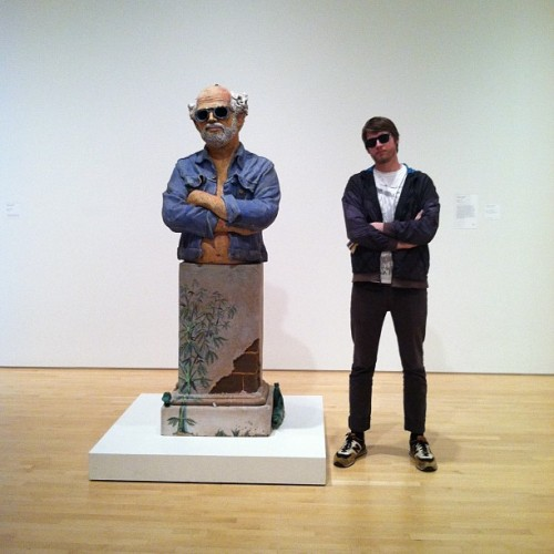 Robert arneson + me (Taken with instagram)