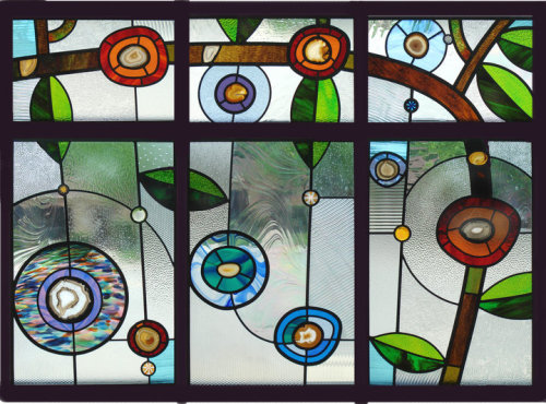 Private Residence Chicago, IL Window created for a 1920s mansion. A 6 panel window, total size 4 ft tall by 6 ft wide.