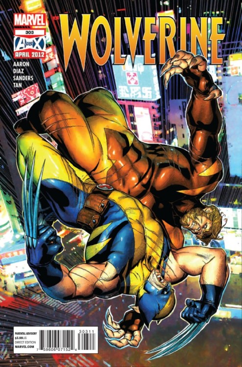 Wolverine v2 #303, May 2012, written by Jason Aaron, penciled by Steve Sanders, Paco Diaz and Billy Tan