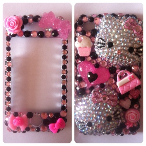 Finished! #bows #bling #crafts #cute #cabochon #crystals #cupcakes #decoden #deco #gems #glam #girly #handbag #hearts #hk #hellokitty #hellokittycase #iphonecase #kawaii #myiphonecase #pink #purse #pretty #rhinestones #roses #sparkles #swarovski  (Taken with instagram)