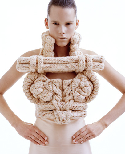 An unusual piece from knitwear designer Sandra Backlund
