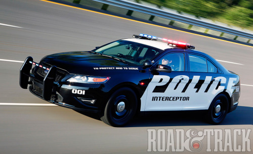 The 2012 Ford Police Interceptor is based on the Ford Taurus that opted to replace the Crown Victoria. (Source: Road & Track)