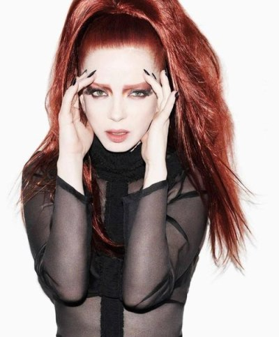 "Garbage front woman, Shirley Manson photographed for Bullett Magazine out in Feb 2012.  ""I painted a slightly shimmery midnight blue on her gorgeous nails! She was the sweetest!"" -Stephanie Stone, Celebrity Nail Stylist"