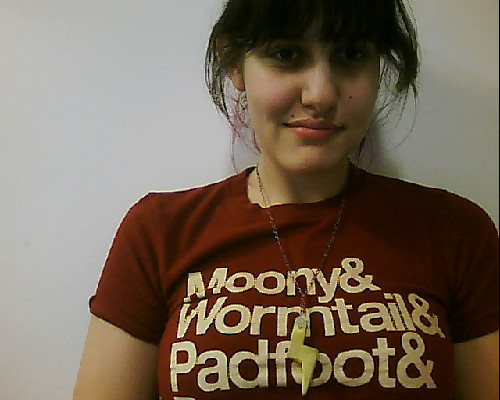 going to wear a harry potter shirt to the hunger games premier…. yep.