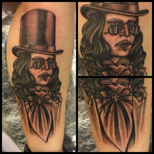 I just finished this one tonight. #tattoos #garyoldman #dracula #ochoplacas #hardline #portrait  (Taken with Instagram at Ocho Placas Tattoo Company)