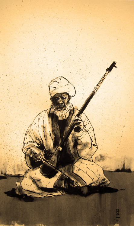 "The Sufi Musician, c. 1880's ""Your eyes have turned from God, English, but He will yet find ways to make you see."""