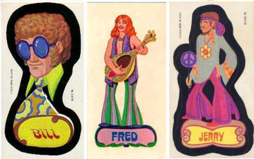 """Mod Generation"" stickers - Topps NY - 1969"