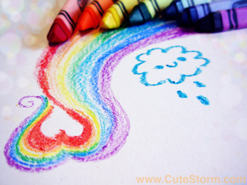 cutestorm:  Rainbow Love by =Chihuahua-Yip