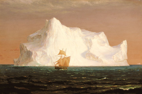 unecrepuscule:  the iceberg, frederic edwin church (1891) .
