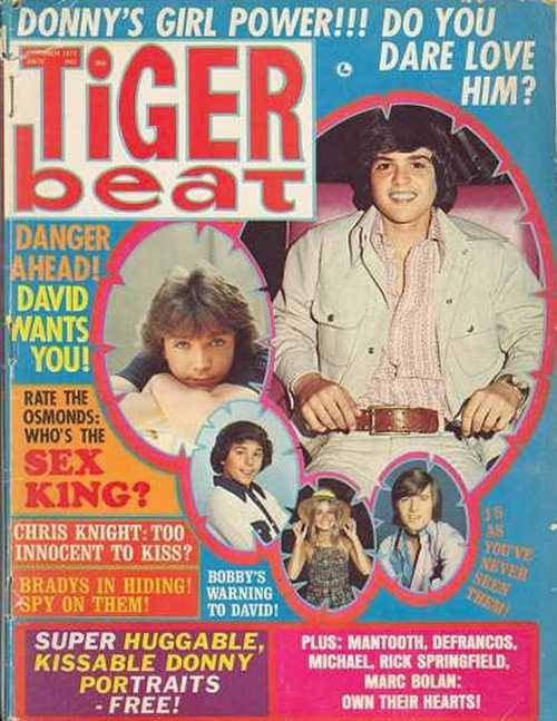 superseventies:  Donny's Girl Power!!! Tiger Beat, October 1972.
