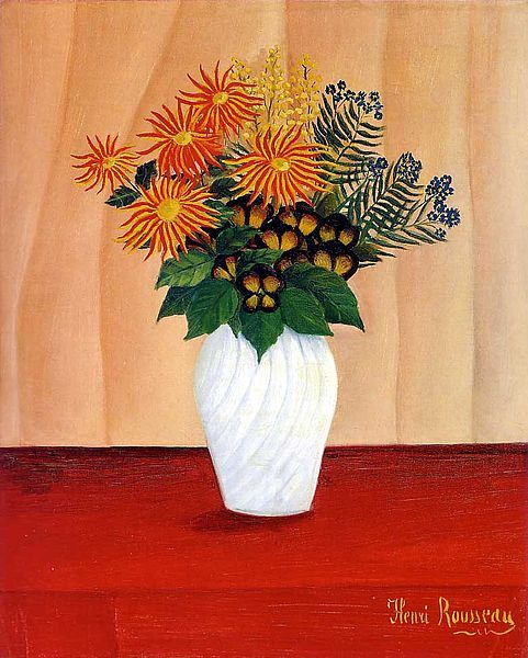 Henri Rousseau. Bouquet of Flowers, 1910.