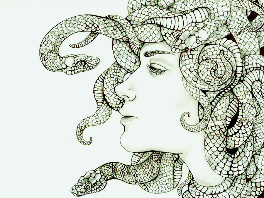 Head Full of Serpents by ~Voqu