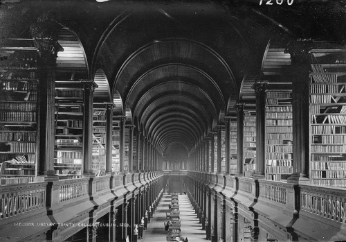 vintageportraits:  The Long Room  Long Room Library at Trinity College Dublin