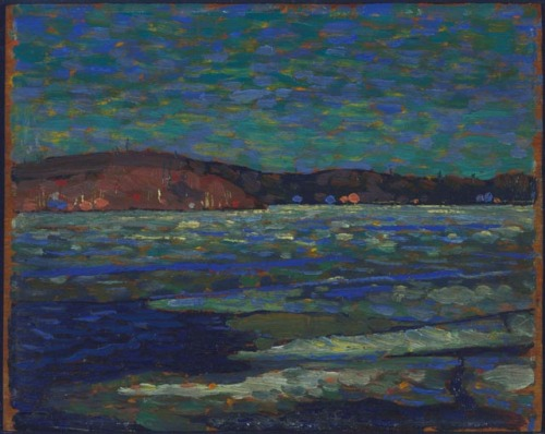 aleyma:  Tom Thomson, Ice Reflections, Spring, 1916 (source).