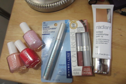 Mini drugstore collective haul! Bought these last week and a few days ago: Essie A Crewed Interest Essie Ole Caliente Essie Pink-a-Boo Maybelline Lash Discovery Mascara Waterproof CoverGirl Outlast Lip Color in Forever Fawn Sonia Kashuk Radiant Tinted Moisturizer in Tan