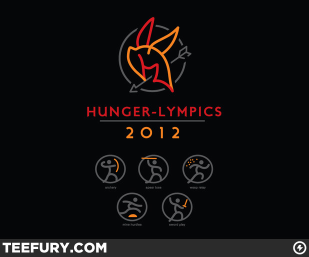 Limited Edition Tshirt: Hunger-Lympics by WinterArtwork is on sale for $10 from TeeFury for 24 hours only.