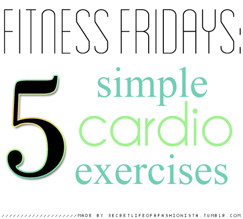 secretlifeofafashionista:  Cardio is probably the simplest type of exercise if you don't make it a chore. Here are 5 things you can do to burn the calories and still have fun:  1.) Play A Dancing Game On Wii / Kinect / PS2 - Playing Just Dance burns TONS of calories and gives you a great work out. It's super fun, especially if you play it with friends. I've even gone retro and pulled out my old dance mat before and plugged it into my TV.  2.) Walk To A Near By Place With a Friend - In the spring and summer, I love walking places with my friend. We've walked more than a mile before. It's a lot of fun and burns off the pounds.  3.) Play a Childhood Game - Tag, Marco Polo, Hide and Seek, Whatever you want. Release your inner child and burn some calories while you're at it. This is why   obesity is spreading rampant in children - they don't find joy in these games. 4.) Have Sex - This probably sounds ridiculous but the more rigorous sex you have, the more calories you burn. Don't forget kissing and foreplay burn even more calories ;) 5.) Take The Stairs On Campus and Park Far Away- This may not be much exercise, but parking closer and taking the elevator burn less calories through the day. You should be taking 10,000 steps per day and doing these activities add to this, plus make for more calories burned.