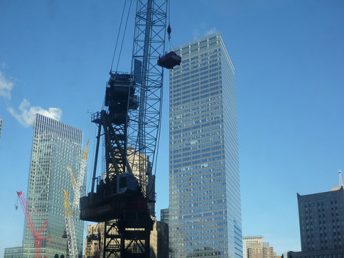 Freedom tower construction by Vin Schiano on Flickr.