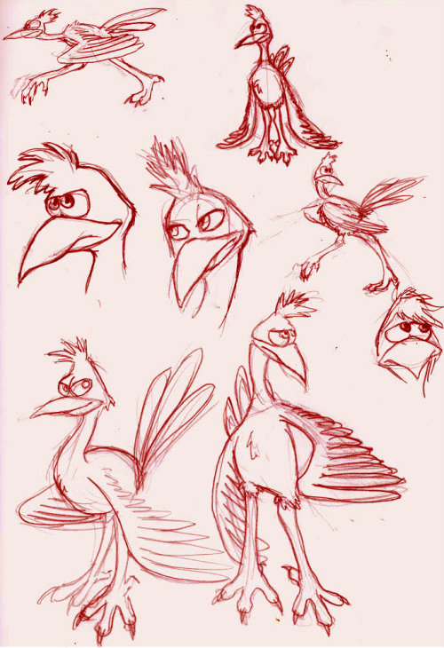 some Kazooie doodles, expect more for some reason auto-fix turned it red… I was going to change it but then I realized that Kazooie is red and I thought it might be a sign