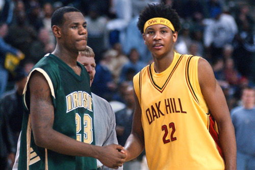 lourdson:  Lebron James & Carmelo Anthony back in times