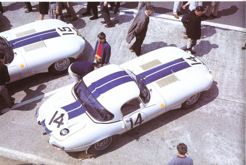 Briggs Cunningham Lightweight E Type at Le Mans 1963